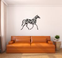 Horses Shaped Like Horse Wall Decal